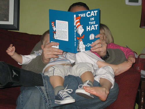 Daddy reads Dr. Seuss