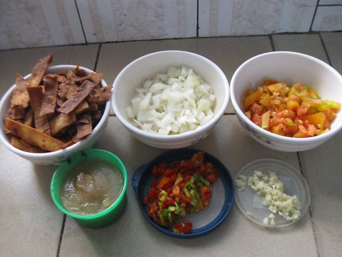 Tortilla strip ingredients