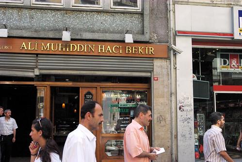 Ali Muhiddin Hacıbekir,Hacıbekir Candy shop, Hacıbekir şekercisi Beyoğlu