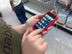 Patrick tries out MockDock.com on his iPhone