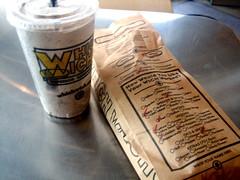 Sandwich and Oreo Shake