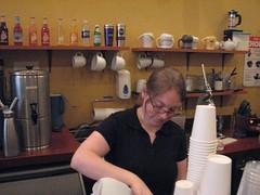 Anne, hard at work