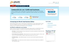 PBwiki Small Business Edition