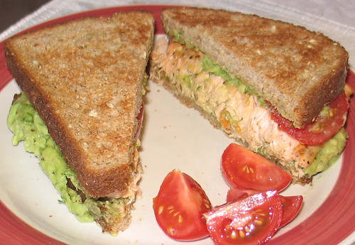 Avocado & Salmon Sandwich