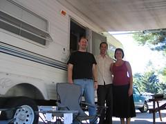 Josh, Lindsay and Morriss in Portland