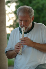 Alan playing the recorder