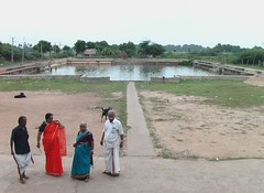 Temple tank in front of the temple