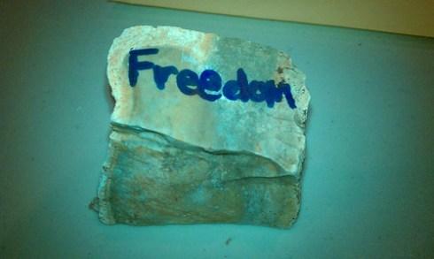 Student work: freedom