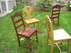 Dinning room chairs before