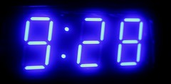 Our Alarm Clock - showing Mele's birthday