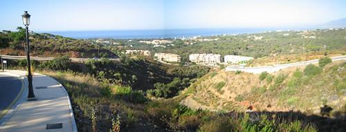 vistas panoramicas de la costa desde lo alto del monte Elviria