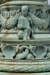 Cherub With Open Book On John Donnelly's Bronz...