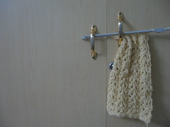 My first lace scarf - Back