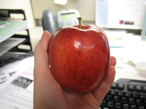 huge apple that looks like a pomegranate