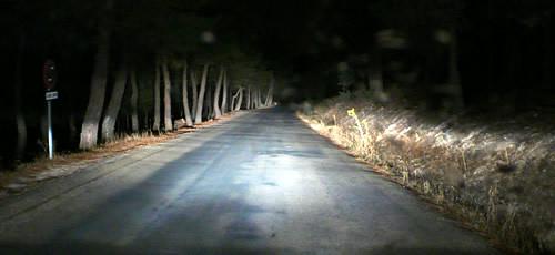 Vista de la carretera desde el coche