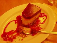 Lemon tofu cheesecake at vegetarian restaurant Green Planet in Amsterdam