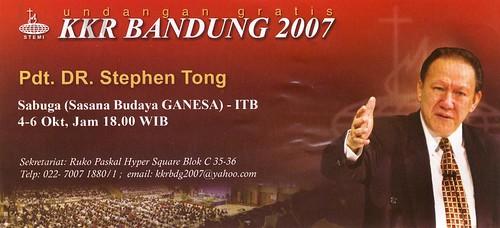 KKR Bandung 2007 - Pdt. DR. Stephen Tong