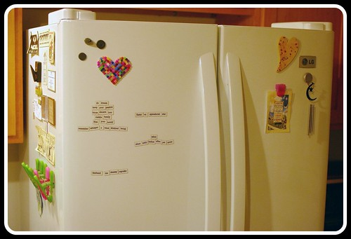 Decorating the new fridge