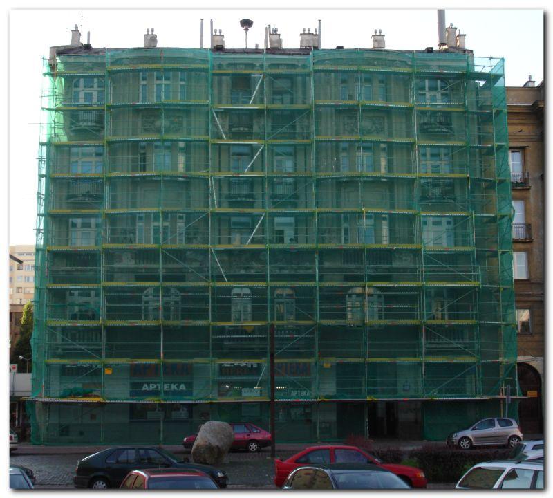 fasada rusztowania