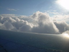 Wingshot Descent into Clouds