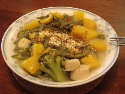 Homemade Steamed Tilapia Dinner - 3