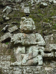 Tempelfigur, Copan, Honduras