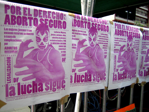 marcha por la despenalización del aborto México DF
