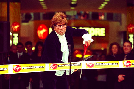Richard Branson Opens 81st Virgin Megastore, UK 1997