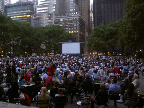 movie night in bryant park