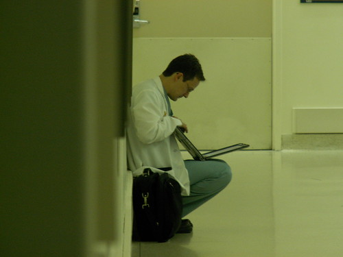 Doctor with iPad