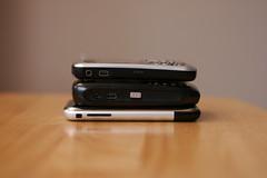 iPhone, BlackBerry Curve, BlackBerry 8703e