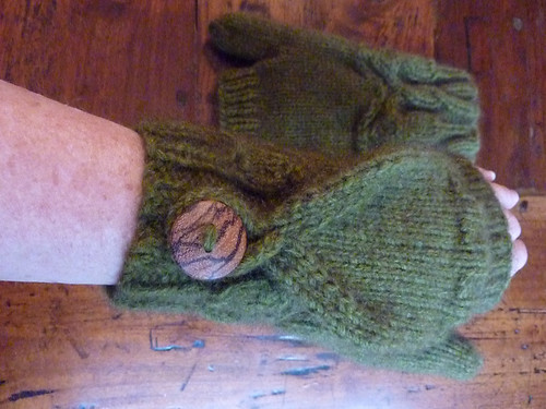 fingerless flip top mitts