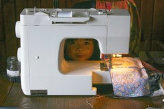 Peek-a-Boo with the Sewing Machine