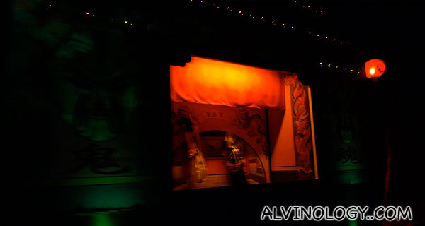 Entering a Chinese Opera ghost section on the tram ride