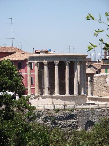 Świątynia Westy w Tivoli, widok od zbocza