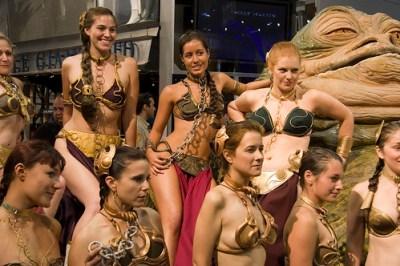 Slave Leias with Jabba