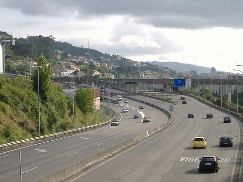 Autopista AP9 a su paso por Chapela
