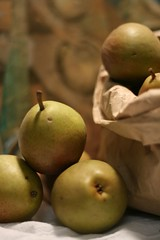 sack of seckel pears