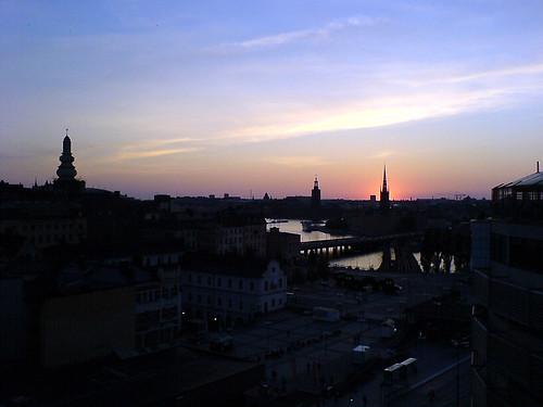 Summer sunset in Stockholm 1.