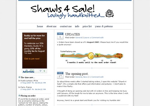 Shawls 4 Sale opens!