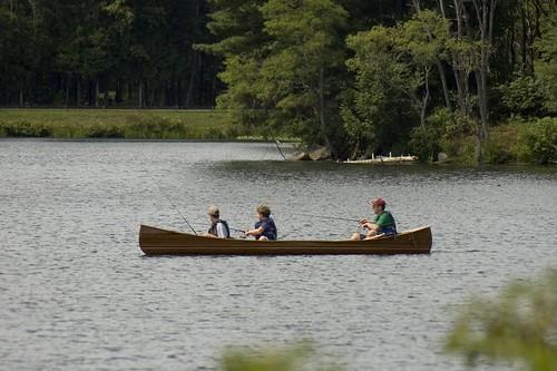 Fishing by Canoe