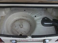Cleaned trunk - 1981 Datsun 210