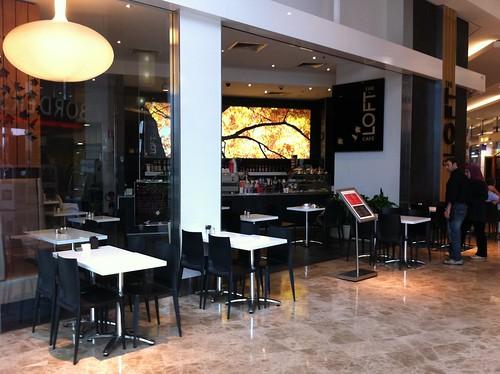 the loft cafe, parramatta westfield
