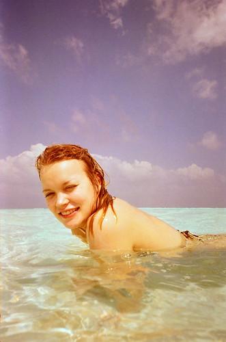 Linda swimming