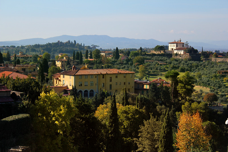 View of Tuscany countryside from Monte alle Croci