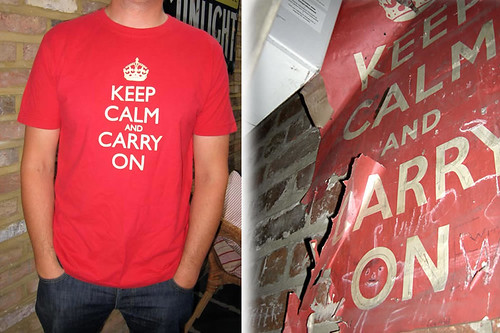 Red-and-Yellow-Keep-Calm and Carry on T-Shirt