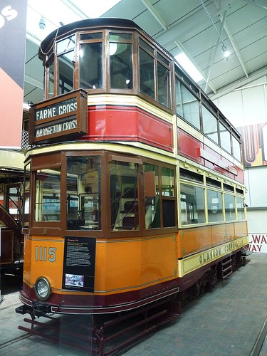 Glasgow Corporation 1115, National Tramway Museum, Crich Tramway Village, Derbyshire