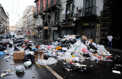 Italy Naples Trash