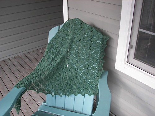 green chair & shawl