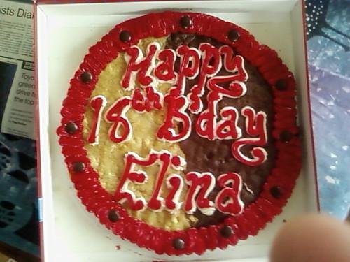 Elina's Giant Cookie